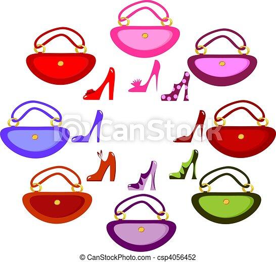 women\'s footwear and handbag  - csp4056452