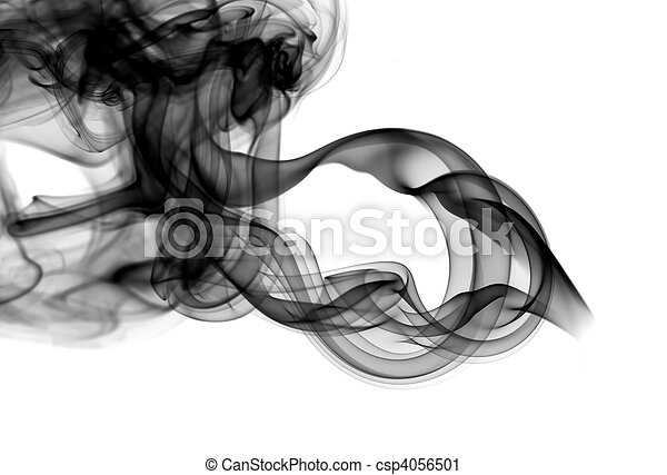 Abstract fume patterns on white - csp4056501