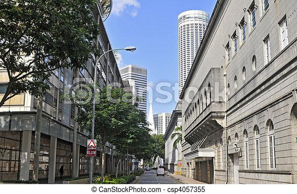 Street in Singapore - csp4057355