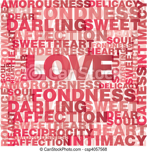 Valentine love words - csp4057568