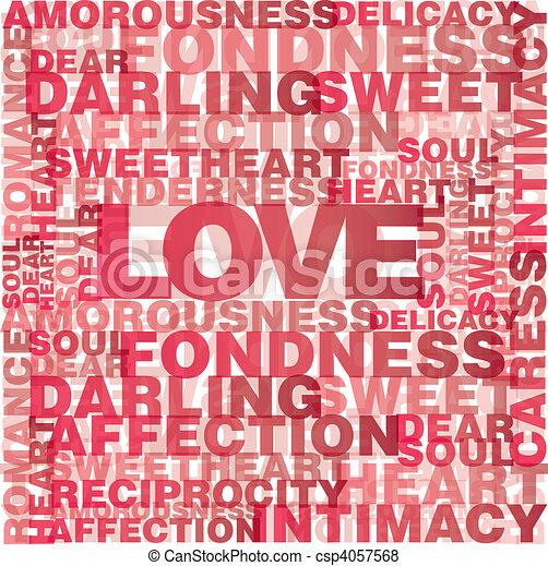 Valentine love words - csp4057568