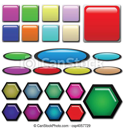 Web Button Shapes - csp4057729