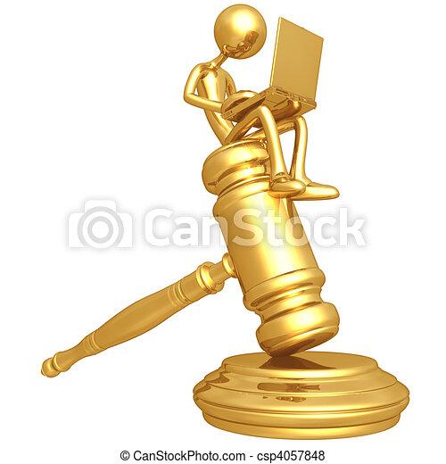Online Law - csp4057848