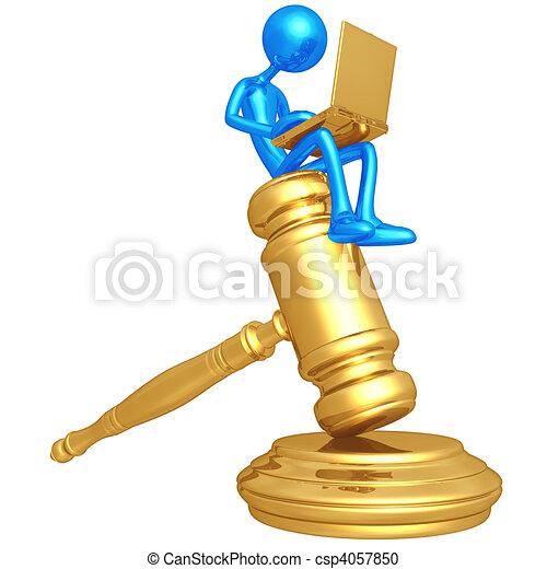 Online Law - csp4057850