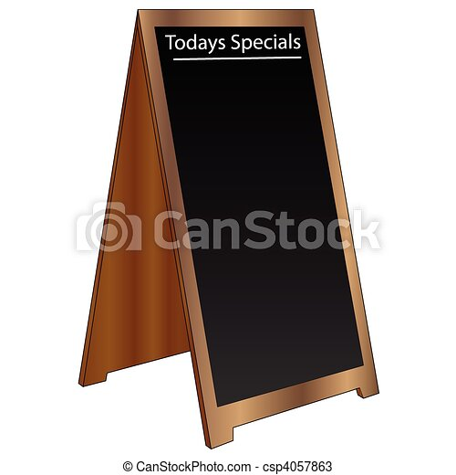 Editable Sandwich Board Sign - csp4057863