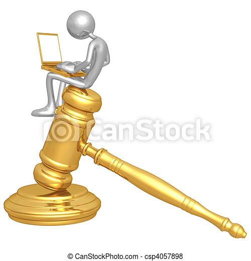 Online Law - csp4057898