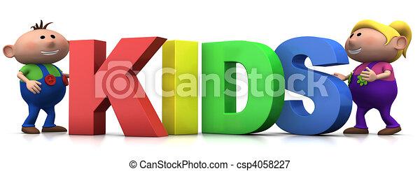 kinder, briefe - csp4058227
