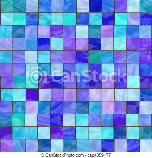 blue stained glass - csp4059177