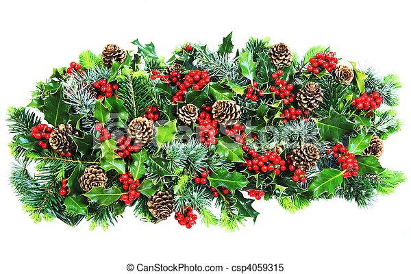 Christmas Natural Foliage  - csp4059315