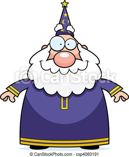 Wizard Smiling - csp4060191