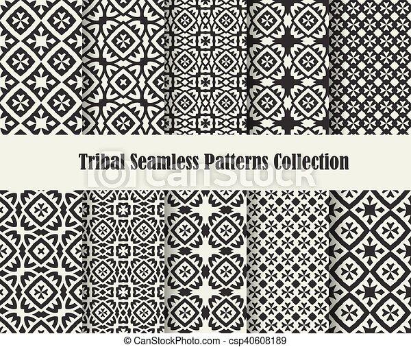tribal cross ornament - csp40608189