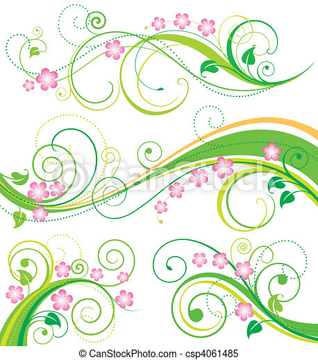 Spring Floral Decor - csp4061485
