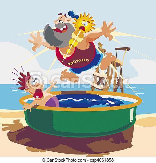 Illustration de ma tre nageur piscine classique Piscine la petite amazonie