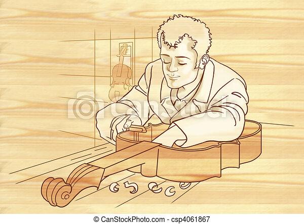 Stock de ilustraciones de luthier artesano cl sico for Que es un luthier