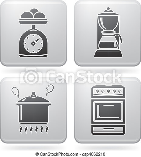 Kitchen Tools Drawings vector clipart of kitchen utensils - everyday kitchen utensils