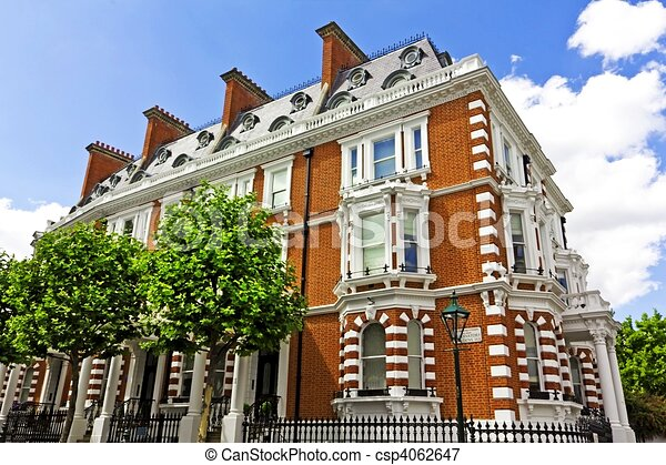 Fancy Apartment Building stock illustrations of luxury apartment building in london - large
