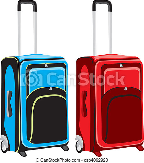 illustration of isolated luggage - csp4062920