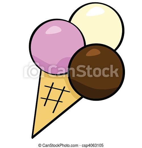 Cartoon ice cream - csp4063105