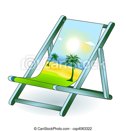 Vector Illustration Of Deck Chair Holiday Dream Csp4063322