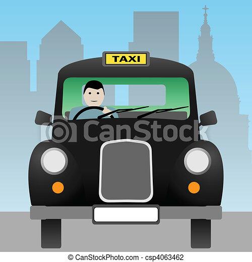 London Black Cab Drawing Taxi Cab a Black London Taxi