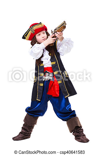 Little boy dressed as pirate - csp40641583