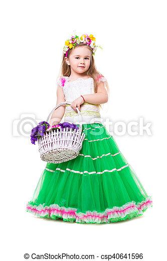 Little girl wearing like spring - csp40641596