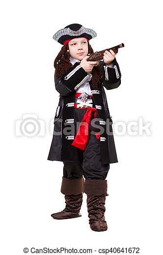 Little boy dressed as pirate - csp40641672