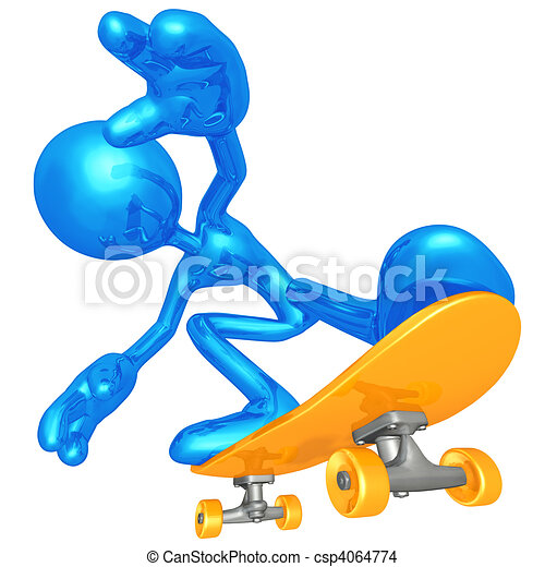 Skateboarding - csp4064774
