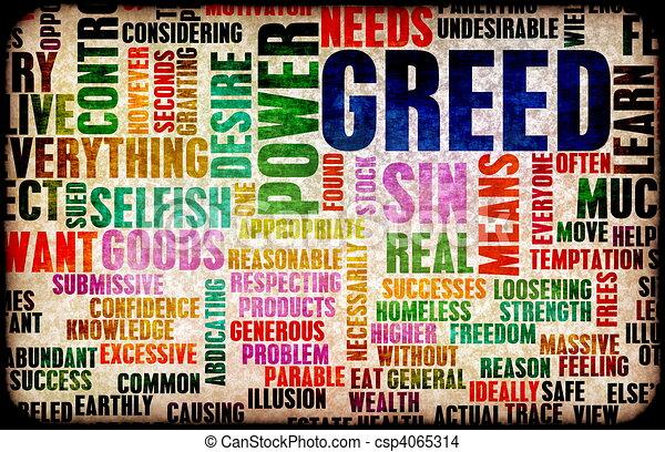 Greed - csp4065314