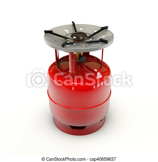 Propane gas cylinder on a white background - csp40659637