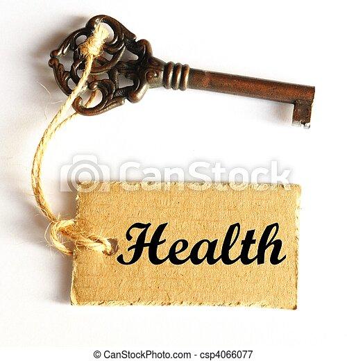 saúde, tecla - csp4066077