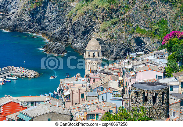Vernazza. The old village with colorful houses. - csp40667258