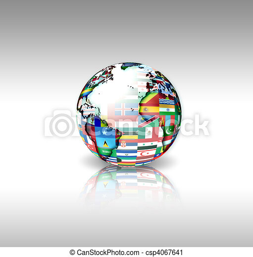 World flags sphere - csp4067641