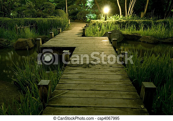 wooden bridge - csp4067995
