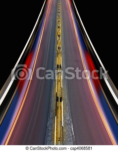 fast-speed highway of city - csp4068581