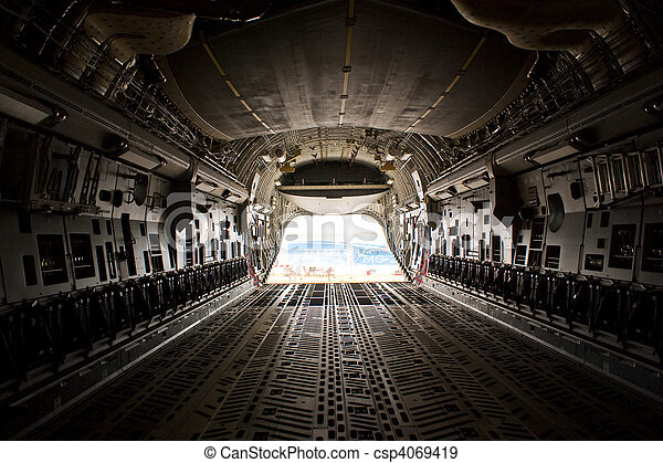 Farnborough Airshow 2010 - C17 Cargo Bay - csp4069419