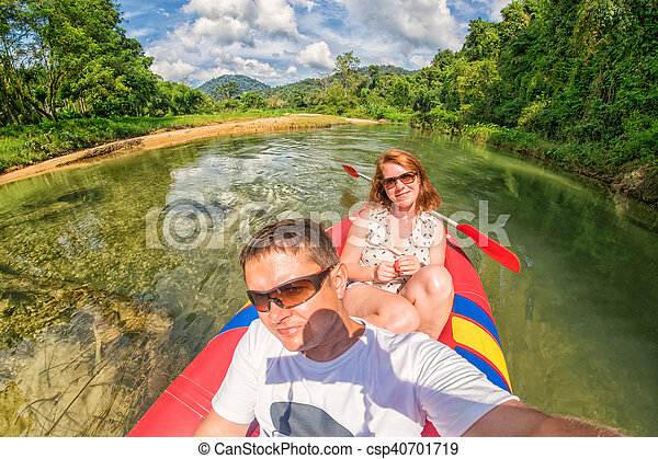 Kao Sok River Safari Selfie in Thailand