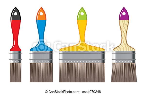 colour brushes - csp4070248