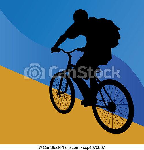 Student Bicycle Rider - csp4070867