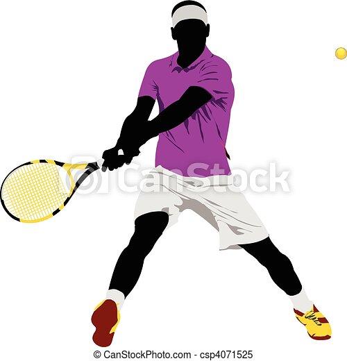 Lawn Tennis Drawing Tennis Player