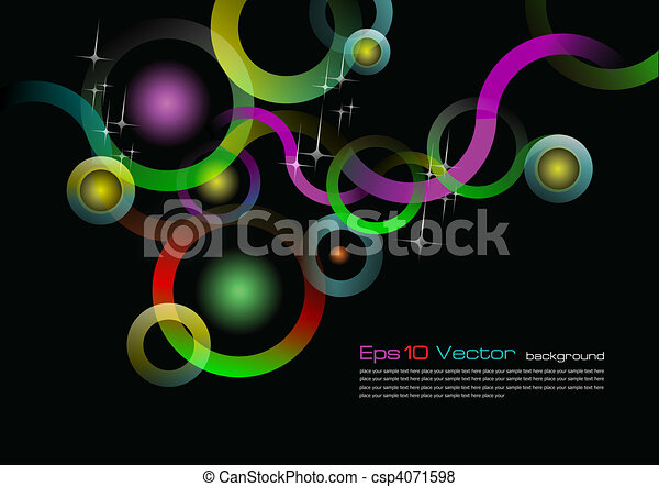 Eps 10 vector black background - csp4071598