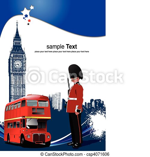 Cover for brochure with London imag - csp4071606