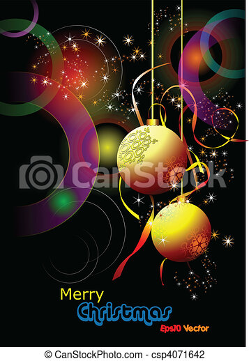 Christmas - New Year shine card wi - csp4071642