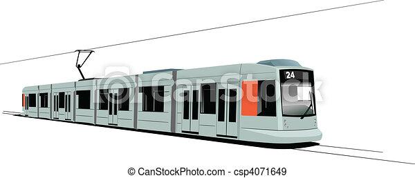 City transport. Six Trams. Vector i - csp4071649