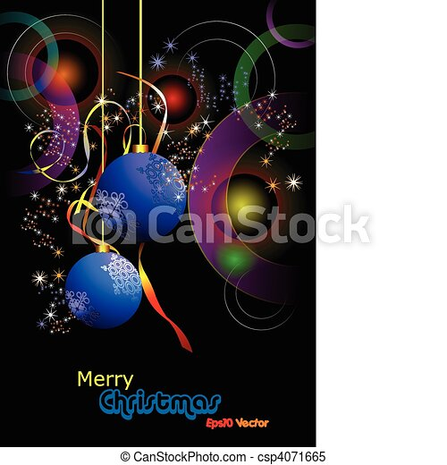 Christmas - New Year shine card wi - csp4071665