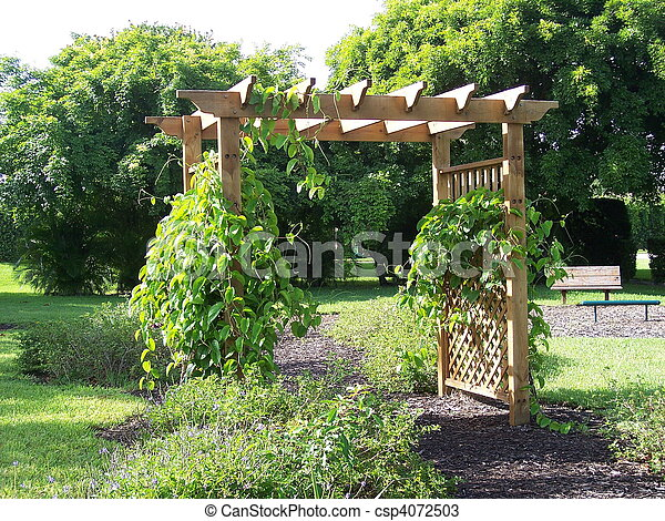 photos de treillis pergola jardin pergola vignes croissant csp4072503 recherchez. Black Bedroom Furniture Sets. Home Design Ideas