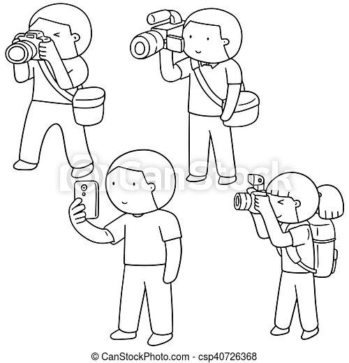 vector set of photographers - csp40726368
