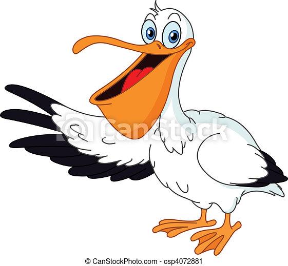 Vector clip art de pel cano cartoon pel cano - Fotos de pelicanos ...