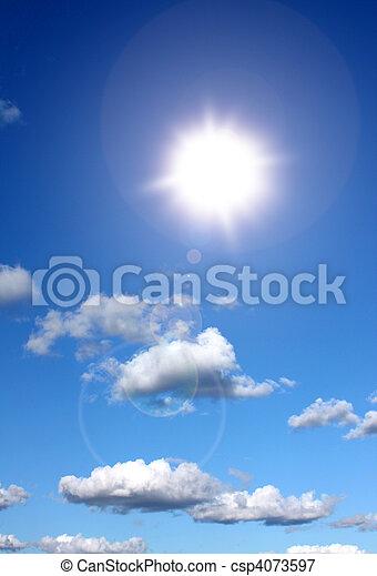 Sunshine in blue sky - csp4073597