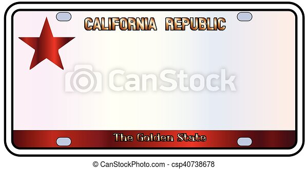 California The Golden State - csp40738678